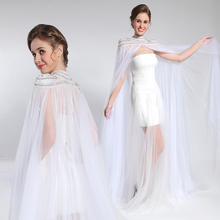 Generous cheap graceful ladies white sexy wedding dress scarfs