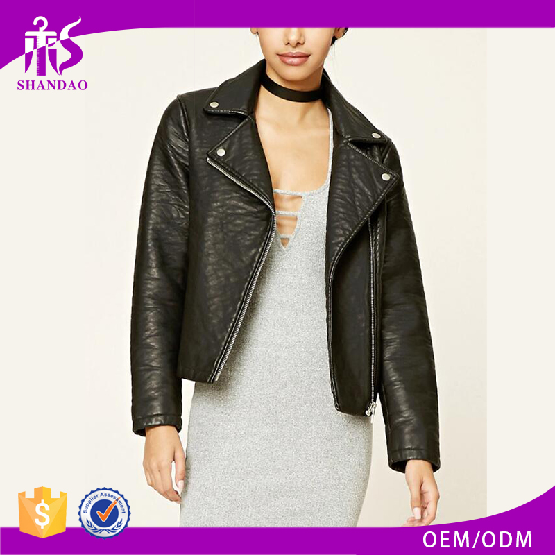 Guangzhou Shandao Hot Sale High Quality Bulk Wholesale Winter Wear Black Russian Leather Jackets