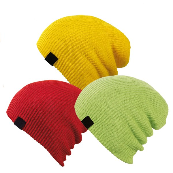 BSCI audited factory fashion acrylic custom knit beanie
