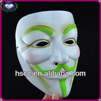 High Quality Green Neon Eyebrow And Beard V for Vendetta Mask For Sale