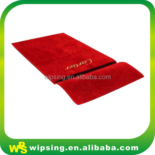 Luxury Double Sided Velvet Jewerly Snap Pouch with Logo Printing
