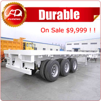 3 axle 40t 50t flat bed container chassis