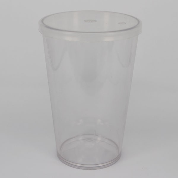 Epluser 15oz widespread unbreakable plastic cup lid cover