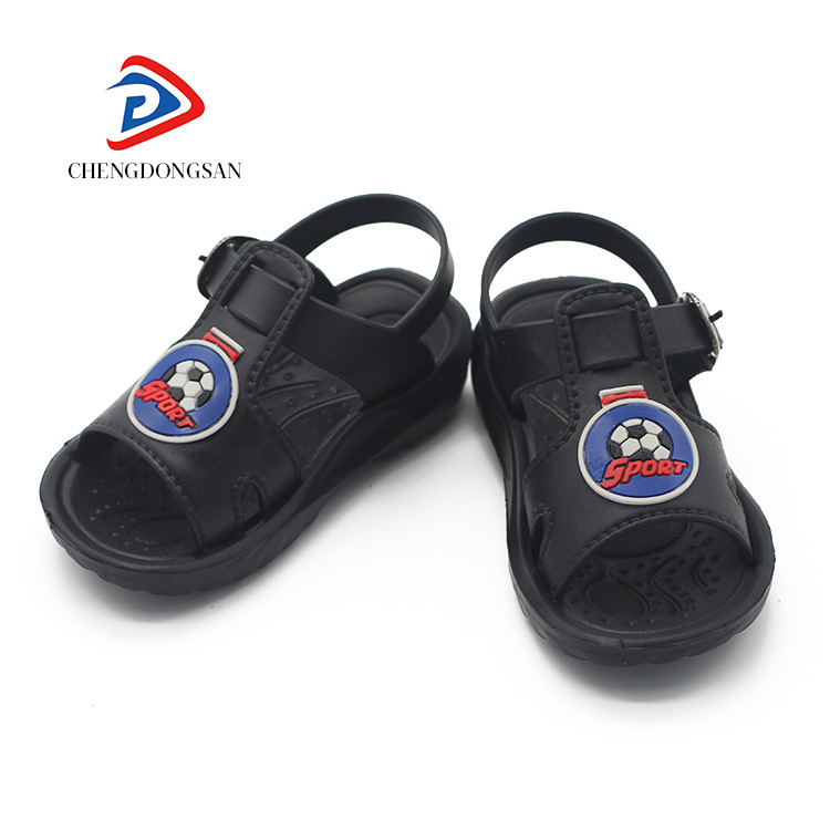 China custom logo kids' plastic slide pcu childrens frisky sandals