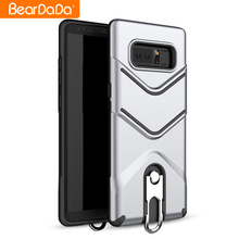 Hybrid 2 in 1 tpu pc kickstand rope buckle for samsung galaxy note 8 slim case