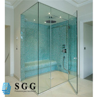 8mm tempered glass handrail fence , tempered safety glass shower screen