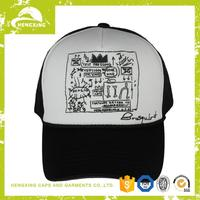 Plastic High quality outline in 3d embroidery baseball cap
