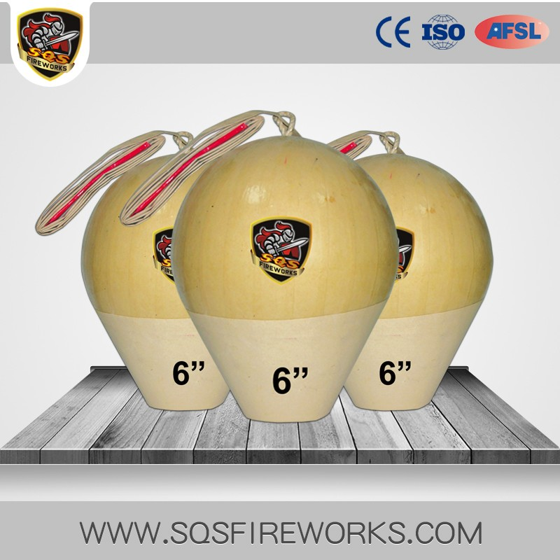 1.3g fireworks 6 inch CE professional display fireworks shells for sale