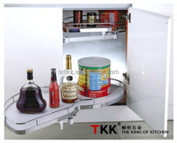 TKK MDF Kitchen Cabinet Pull Out Swing Tray