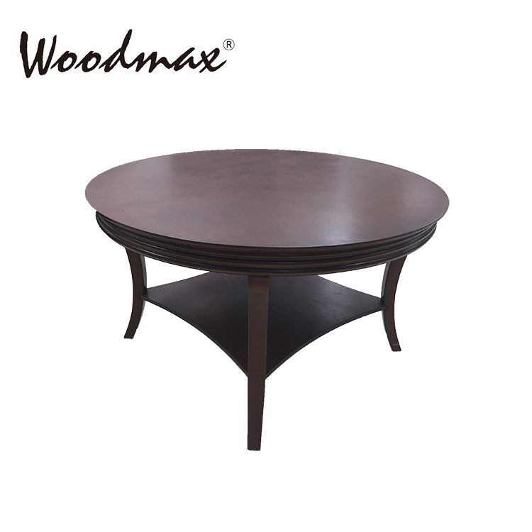 WCE045 Espresso coffee table top w curve legs luxury rooms to go fair price coffee tables