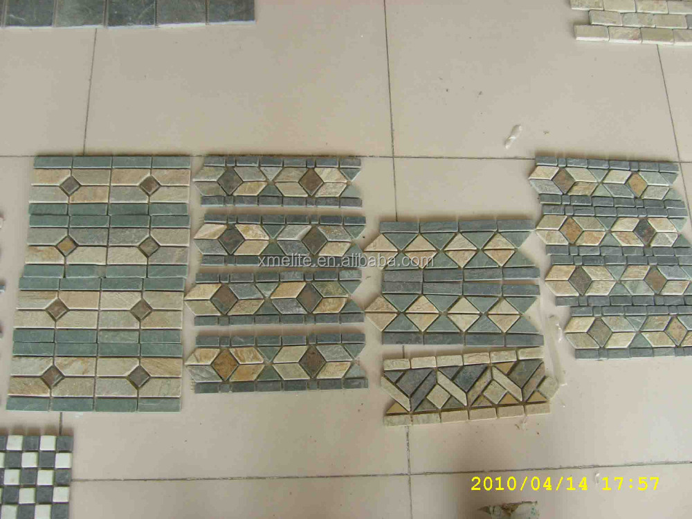 Slate Mosaic Border Tile Bathroom Wall Tile