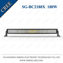 OSRING high performance c ree chips CE Rohs 60pcs*3w curved led light bar 180w