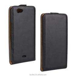 Genuine Flip Leather Case for Wiko Highway Sings