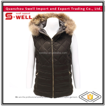 winter windproof black fancy vest for women