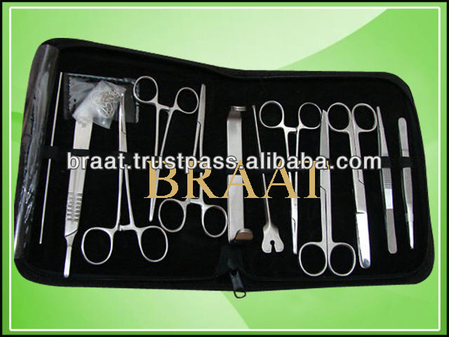basic surgical instrument set for minor surgery use