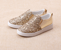 FC1350 spring autumn soft leather shining sequins kids shoes fashion new style children shoes