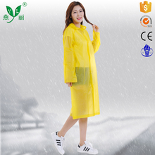 eco-friendly biodegradable emergency rain coat/yellow rain poncho