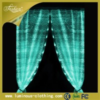 fiber optics fabric decor luminous led new design poland restaurant curtains