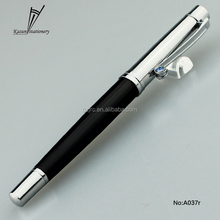 Novelty clip metal roller pen with diamond