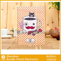 Cute Mustache cartoon leather book cover for ipad mini