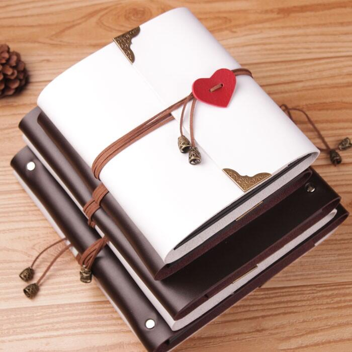 Leather Cover Square Style 265X280MM Photo Album With Self Adhesive Sheet