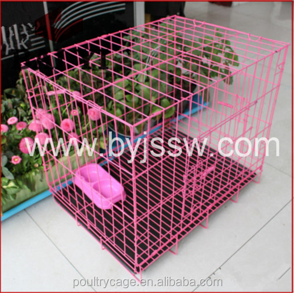 Small Collapsible Double Dog Crate