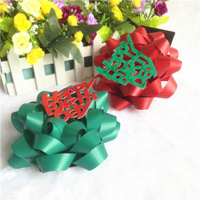 China supplier matte plain solid giant green star bow for gift packing