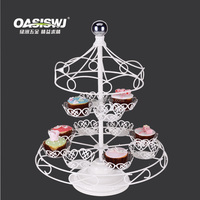 Carousel cupcake stand with powder coating ROTATING CAKE STAND