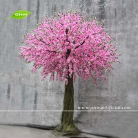 GNW pink color artificial flowers cherry tree for wedding decoration
