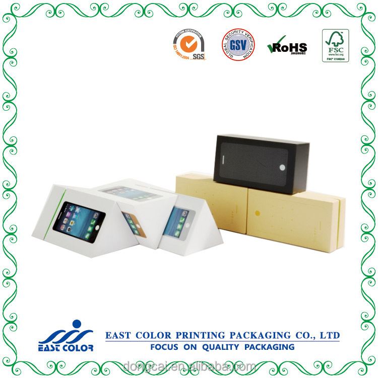 Customized paper packing box for eletronic device