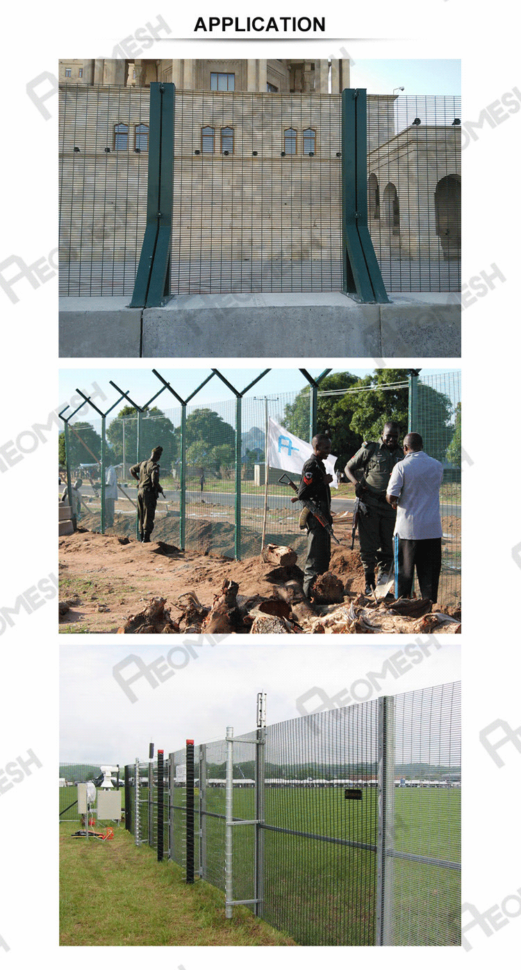 Commercial application wrought iron airport fence 358 high security fence