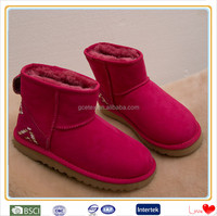 italian women red suede ribbon hemming nice winter snow boots