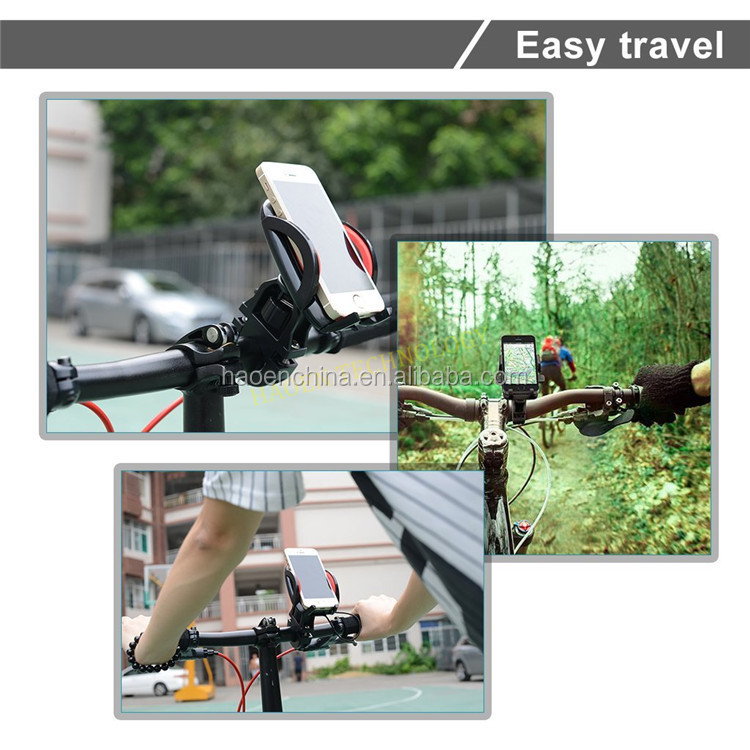 Factory Phone Bike Mount extendable Cell Phone Holder for Bike Motorcycle GPS Cradle