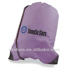Purple Budget Drawstring Bag with 420D Nylon