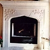 Travertine Carved Fireplace