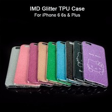 High Quality LOGO Printing Shockproof Glitter TPU Cell Phone Case For iPhone 6 Plus 6s