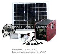 Mini solar energy lighting kit, solar power portable electricity generator 12V12AH