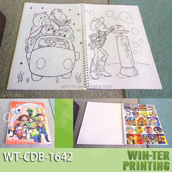WT-CDB-1642 children art board book printing with handing hole