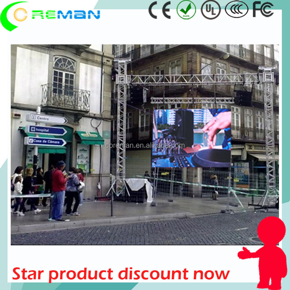 5mm 6mm 6.67mm led display outdoor , blue film sexy video p6 led stage display , 3D film video wall led p1 p2 p3