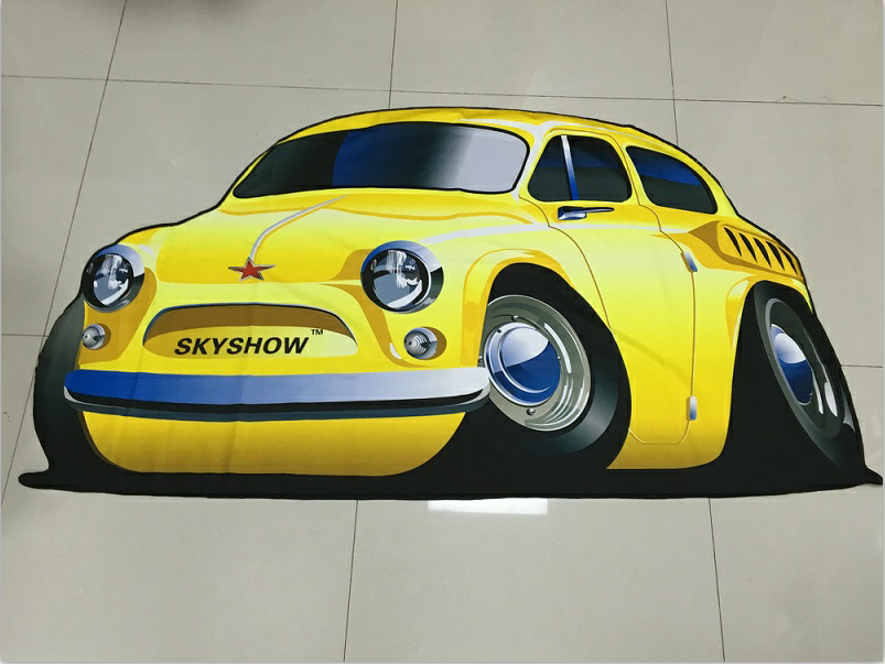 Different Shape Customized Printed Round Beach Towels With Inflatable Package