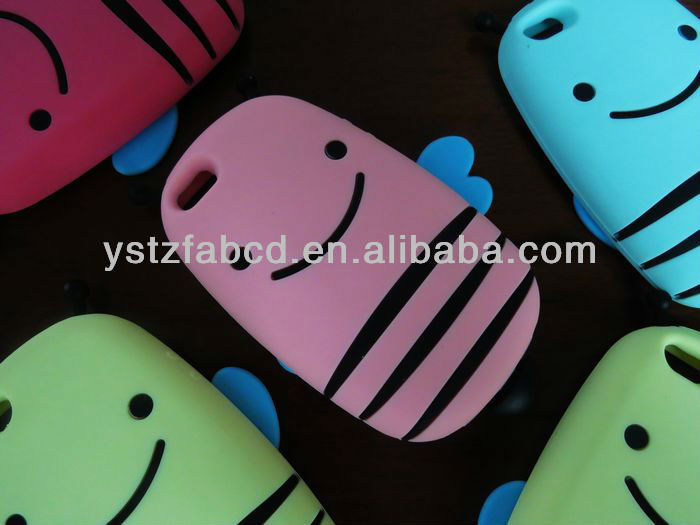 2013 new fashion animal shaped cheap bee silicone phone case for Iphone 5