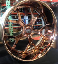24x10'' chrome gold 3 piece forged wheel for aftermarket car
