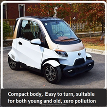2017 chinese manufacturer new fashion close body 4 four wheel electric scooter automobile vehicle car with air condition