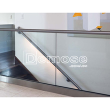 curved glass railing, curved tempered/laminated glass railing