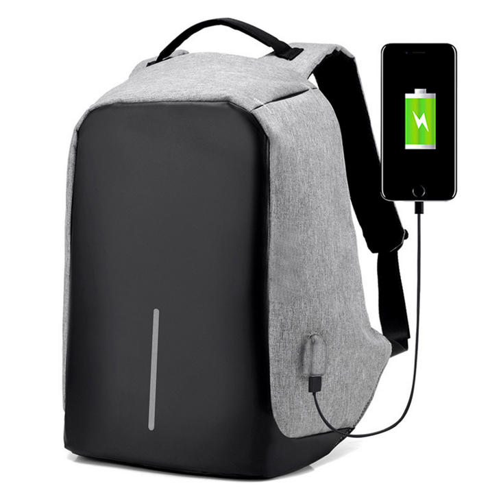 Wholesale Personalized Travelling Waterproof accept custom logo USB Battery Charging anti theft backpack