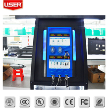 For fast food touch screen mobile charging station cell phone charge kiosk mobile top-up kioskinternet access kios