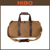 2015 TOURBON new branded leather and canvas weekender travel duffel bag