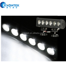 2018 Hot sale 60W Jeep wrangler one Row LED work light bar with 6pcs*10W 4WD off road ATV SUV DRL driving Flood spot IP67