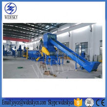 waste PET bottle hot washing line, Middle east platic bottle to POLYESTER FIBER recycling machine