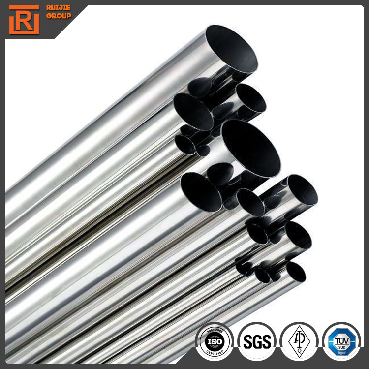 201 stainless steel mirror tube, 0.8mm thickness small diameter stainless steel pipe, stainless steel pipe for furniture
